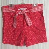 Красные шорты в горошек H&M р. 1,5-2 года