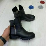 Женские ботинки 36-41р Натур кожа замша