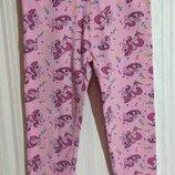 Розовые леггинсы / лосины My little pony р. 98-104