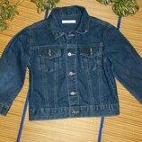 Джинсовка пиджак джинсовый куртка джинсовая для мальчика 4-5лет