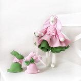 Оригинальный подарок декор эко игрушка Зайка тильда с зайками подарок маме дочке любимой