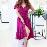 Красивое платье на бретелях s-xl 6цветов