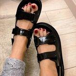 Женские кожаные босоножки сандали Chanel