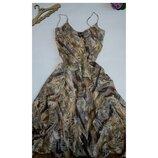 Платье сарафан бюстье летнее миди 48 50 размер marks&spencer 52 размер