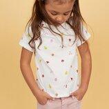 Яркая летняя футболка H&M ягодки девочкам 4-6,6-8 и 8-10 лет