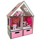 Домик для LOL. Домик для маленьких кукол Лол 2114 с обоями, шторками, мебелью, текстилем и BOX