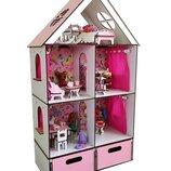 Домик для LOL. Домик для маленьких кукол Лол 2107 с мебелью, текстилем и BOX