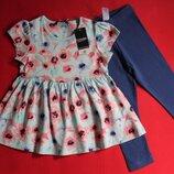 Комплект футболка-туника и лосины George для девочки 1.5-2 года