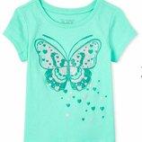Яркая футболка Бабочка бренд Childrens Place девочке 4-5 лет. Новая коллекция