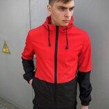 Мужская весенняя куртка красно-черная Intruder SoftShell Lite