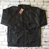 Куртка ветровка спортивная с капюшоном черная