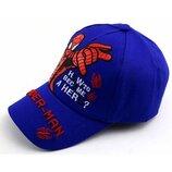 Синяя кепка Человек Паук Spider man для мальчика р.50-54