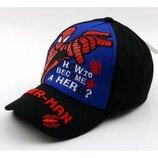 Кепка Человек Паук Spider man для мальчика р.50-54