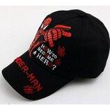 Черная кепка Человек Паук Spider man для мальчика р.50-54
