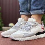 Мужские кроссовки Adidas Nite Jogger Boost 3M,белые