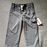 Детские спортивные штаны брюки двунитка Carter's картерс , сша, мальчику, размер 24М, на 1-2 года