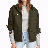Оригинальная хлопковая куртка карго от бренда H&M разм. 40