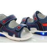 Сандалии детские сине-красные для мальчика размер 22-27
