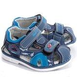 Детские сандалии для мальчика кораблик размер 21-26