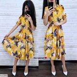 Пышное летнее платье-миди