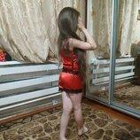 Пижама атласная детская.