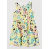 Сарафан платье в бабочки H&M 2-3г