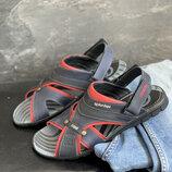Мужские сандали кожаные летние синие-красные Splinter Summer