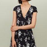Оригинальное креповое платье от бренда H&M разм. 36