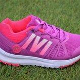 Детские светящиеся кроссовки аналог Adidas для девочки сиреневые р25-30