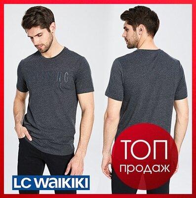 Графитовая мужская футболка LC Waikiki / Лс Вайкики Crossing the ocean travels