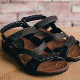 Мужские сандали кожаные летние черные-коричневые StepWey