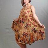 Платье-Разлетайка ламбада с этническим рисунком