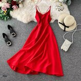 Платье миди летнее разные цвета