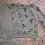Костюм с динозаврами хаки 3-5 лет