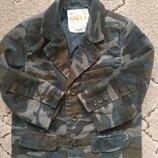 Крутой вельветовый пиджак на модника 3-4г