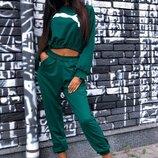 Спортивный костюм штаны джоггеры и кофта топ разные цвета