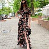 Платье миди длинное летнее разные расцветки