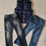 джинсы Next и M&S на р. 6-7 лет.
