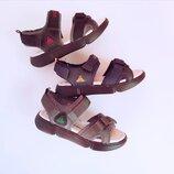 Кожаные открытые сандалии мальчикам, р. 32, 33, 34, 35, 36, 37