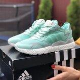 Кроссовки жеснкие Adidas Nite Jogger Boost 3M, мятные