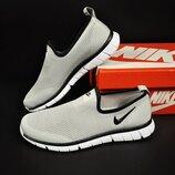летние кроссовки Nike 41-45р светло-серые