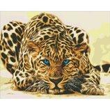 Алмазная вышивка. Леопард притаился 40 50см AM6125