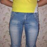 Шорты бриджи джинсовые для мальчика подростка 15 -18 лет. Рр 25..