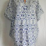 Красивая блуза лен большого размера 20p
