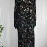 Натуральное платье с оборкой и цветочным принтом 12p