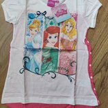 Детская футболка Принцессы Ариель Золушка Бель Скай Эльза