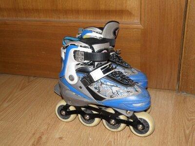 Роликовые коньки Extreme Motion RY0107 р. 35-38 синий