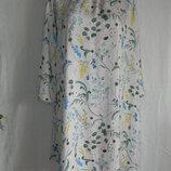 Платье свободного кроя цветочный принт anna glover x h&m.