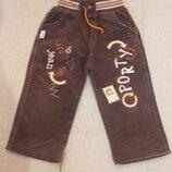 штаны на резинке 98 см. 3 года вельветовые