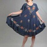 летние платья батал женские Индия